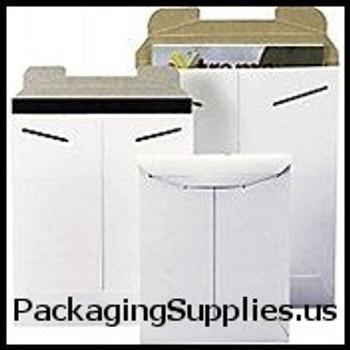 "Stayflats® Original White Tab-Lock Mailer 6 x 8"" #1SFW White Tab-Lock Original Stayflats® Mailer (100 Case) ENVRM1SFW"