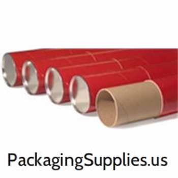 "Telescoping Storage Tubes|3 x 24"" Red Telescoping Tube (24/Case)