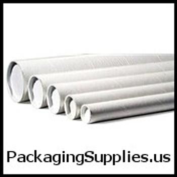 """White Mailing Tubes 3 x 9"""" White Tube (24 Case) P3009W"""