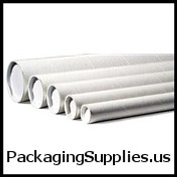"""White Mailing Tubes 3 x 18"""" White Tube (24 Case) P3018W"""
