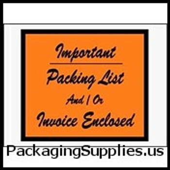 "Invoice Enclosed Envelopes 4 1 2 x 6"" Important...Packing List   Invoice Enclosed Envelope (1000 Case) ENVPQ4"