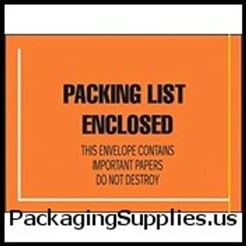 "Military Spec. and MSDS Document Envelopes 4 1 2 x 6"" Fluorescent Face Military Spec. Packing List Envelope (1000 Case) ENVJMR10"