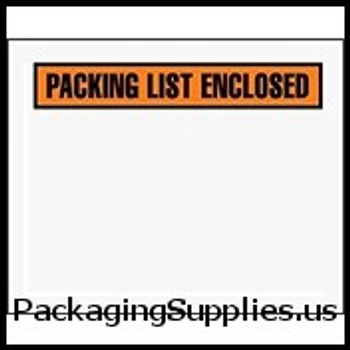 "Packing List Enclosed Envelopes 4 1 2 x 5 1 2"" Panel Face Packing List Envelope (1000 Case) ENVPQ12"