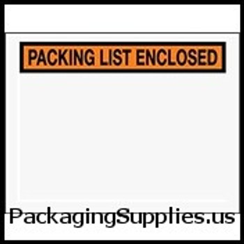 "Packing List Enclosed Envelopes 6 1 2 x 5 "" Panel Face Packing List Envelope (1000 Case) ENVPQ25"