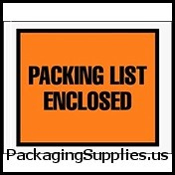 "Packing List Enclosed Envelopes 7 x 5 1 2"" Full Face Packing List Envelope (1000 Case) ENVPQ22"