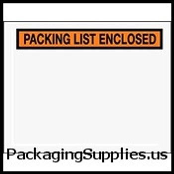 "Packing List Enclosed Envelopes 7 x 5 1 2"" Panel Face Packing List Envelope (1000 Case) ENVPQ19"