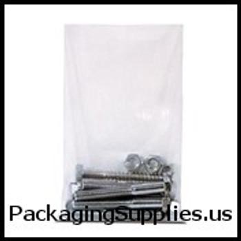 "Heavy Duty Flat Poly Bags, 4 Mil 3 x 8"" 4 Mil Heavy-Duty Flat Poly Bag (1000 Case) PB1045"