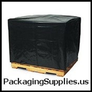 "Black Pallet Covers & Bin Liners, 3 MIL 51 x 49 x 85"" 3 Mil Black Pallet Covers Bin Liners (50 case) PC160"