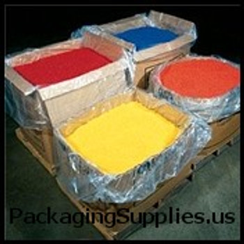 "Clear Pallet Covers & Bin Liners, 2 MIL 68 x 65 x 82"" 2 Mil Clear Pallet Covers Bin Liners (50 roll) PC120"