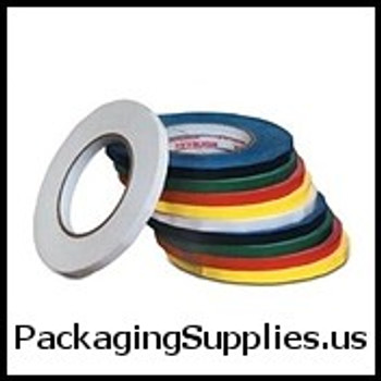 "Bag Tapes 3 8"" x 176 Yds. Yellow Bag Tapes (96 rolls case) T962024Y"