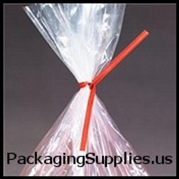"Paper Twist Ties 4"" x 3 16"" Red Paper Twist Ties (500 bag) PBT4R"