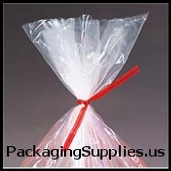 "PlasticTwist Ties 4"" x 3 16"" Red Plastic Twist Ties (500 bag) PLT4R"
