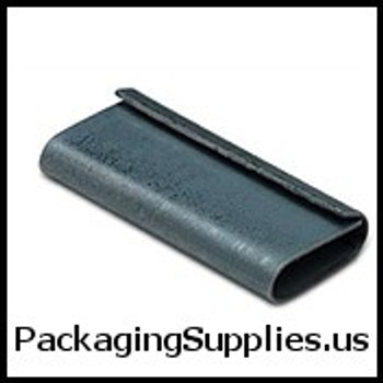 "Polypropylene Strapping Seals 1 2"" Closed Poly Strapping Seals #8PU0500P (1000 Case) SPS12CLOSED"