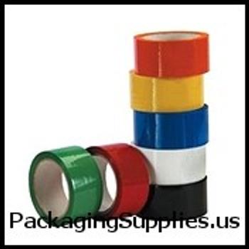 "Colored Acrylic Carton Sealing Tape 2"" x 110 yds. 2 Mil White Acrylic Carton Sealing Tape (36 Case) TCST90222W"