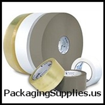 "Medium Duty Hot Melt Tape - Hand Length 3"" x 110 yds. 1.85 Mil Intertape #7100 Medium Grade Clear Hot Melt Carton Sealing Tape (24 Case) TCST9057100"