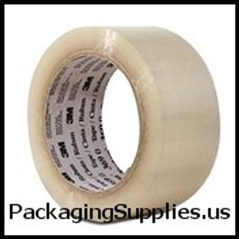 "3M Hot Melt Carton Sealing Tape 2"" x 1000 yds. 1.9 Mil Clear 3M #371 Scotch® Hot Melt Carton Sealing Tape (6 Case) TCS3T9023711000"