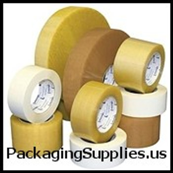 "Medium Duty Natural Rubber Tape 2"" x 110 yds. 2.2 Mil Central #530PVC Tan Natural Rubber Carton Sealing Tape (36 Case) TCST902530T"