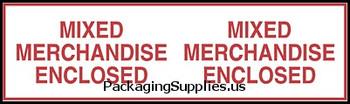 "Pre-Printed Carton Sealing Tapes 2"" x 110 yds. 2.0 Mil Mixed Merchandise Pre-Printed Carton Sealing Tape TCST902P10"