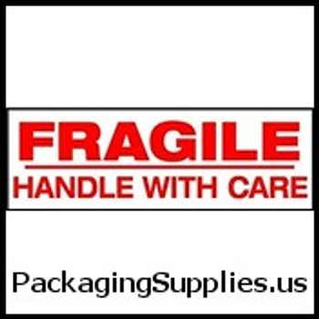 "Pre-Printed Carton Sealing Tapes 2"" x 1000 yds. 2.0 Mil Fragile Handle With Care Pre-Printed Carton Sealing Tape (6 Case) TCST903P02"