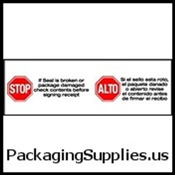 """Pre-Printed Carton Sealing Tapes 2"""" x 1000 yds. 2.0 Mil Stop…Alto... Pre-Printed Carton Sealing Tape (6 Case) TCST903P13"""
