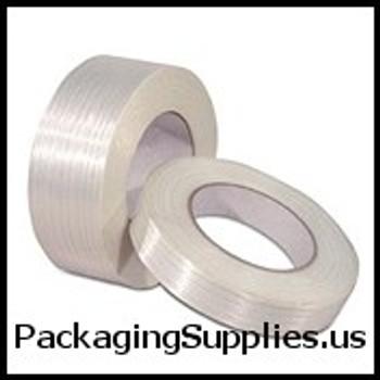 "Industrial Filament Tape 3"" x 60 yds. 4 mil #RG286   #199 100 lbs. Tensile Strength Medium Grade Filament Tape (12 Case) TFTT918300"
