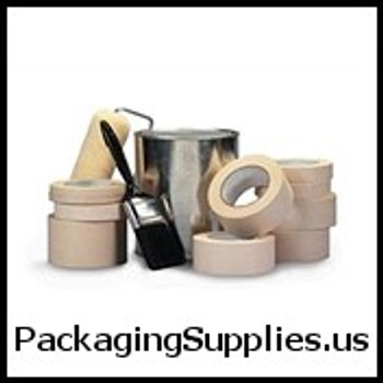 "Industrial Masking Tape 1"" x 60 yds. 5.1 Mil #PG415 Medium Grade Masking Tape (36 Case) TMTT935501"