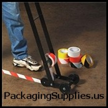 "Safety Marking Tape 3"" X 18 yds. 6 Mil Black White Striped Safety Tape (16 Case) TSTT9336BW"