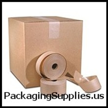 "Medium Duty Paper Tape 3"" x 600` 60# White CONVOY Medium Duty Paper Gum Tape (10 Case) TGTT909160W"
