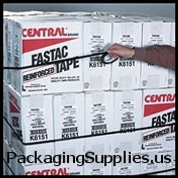 "Strapping Tape 1"" x 60 yds. 2.7 mil #197   #100 Black 90 lbs. Tensile Strength Polypropylene Strapping Tape (72 Case) TFTT977197"
