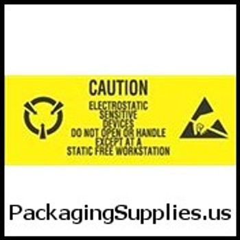 "Anti-Static Labels #DL9060 1 x 2 1 2"" Caution Electrostatic Sensitive Devices- Do Not Open Label LABDL9060"