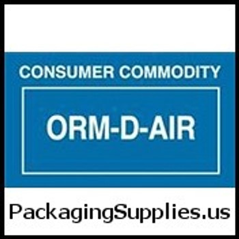 "ORM-D Labels #DL7010 2 1 4 x 1 3 8"" ORM-D-AIR Consumer Commodity Label LABDL7010"