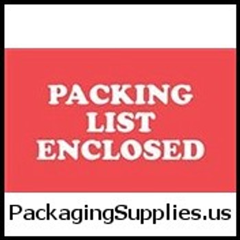 "Special Handling Labels #DL1110 2 x 3"" ""PACKING LIST ENCLOSED"" Label LABDL1110"
