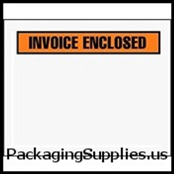 "Invoice Enclosed Envelopes 4 1 2 x 5 1 2"" Panel Face Invoice Enclosed Envelope (1000 Case) ENVPQ13"