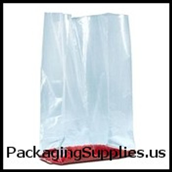 "Gusseted Poly Bags - 1.5 Mil 4 x 2 x 8"" 1 1 2 Mil Gussetted Poly Bags (1000 Case) PB1400"