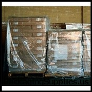 "Clear Pallet Covers & Bin Liners, 3 MIL 51 x 49 x 73"" 3 Mil Clear Pallet Covers Bin Liners (50 roll) PC130"