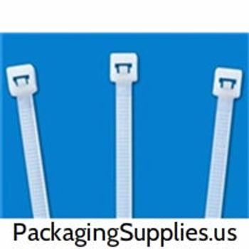 "Cable Tie |8"" 40 lb. Tensile Strength Nylon Natural Cable Ties (1000 bag / 10000 case)