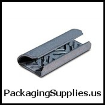 "Polyester Strapping Seals 1 2"" Serrated Open Snap On Polyester Strapping Seals #8PG0500S-4M   P12SS3 (1000 Case) SPSS12OPEN"