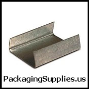 "Steel Strapping Seals - Regular Duty 1 2"" Open Snap On Regular Duty Steel Strapping Seal #8SG0500S-5 (5000 case) SSS12OPEN"
