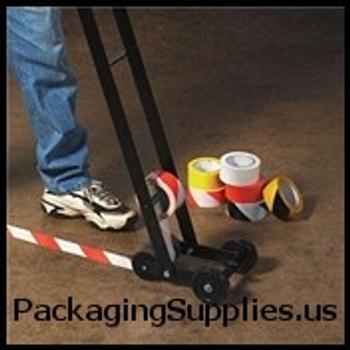 "Safety Marking Tape 2"" X 18 yds. 6 Mil Black White Striped Safety Tape (24 Case) TSTT9236BW"