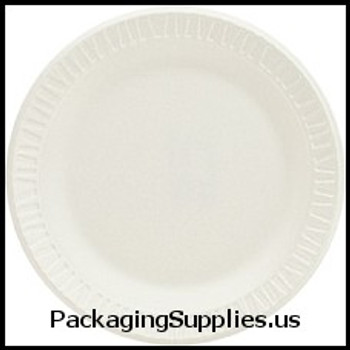 "Kitchen Products: Cups, Forks, Knives, Plates, Spoons Dart® Concorde® Non-Laminated White 6"" Foam Plates (1000 cs) (MFG# 6PWC) 728619"