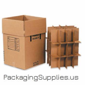 Dish Pack Boxes,s-4676,BSDISHPACK 18 x 18 x 28 350#  51 ECT