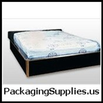 "Full Size 4 Mil. Pillow-Top Style Mattress Bag with Vent Holes 54 x 12 x 90"" (25/roll)   MFB-PE25"