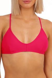 'Lola' Bralette Tie Back - Raspberry