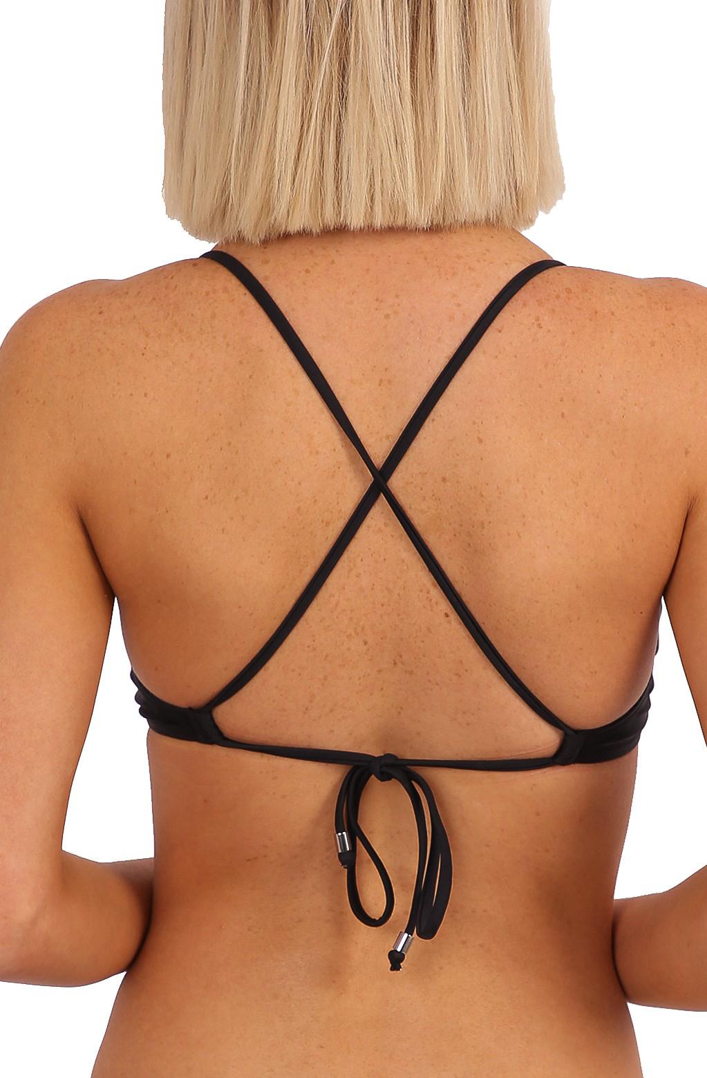 'Lola' Bralette Tie Back - Black
