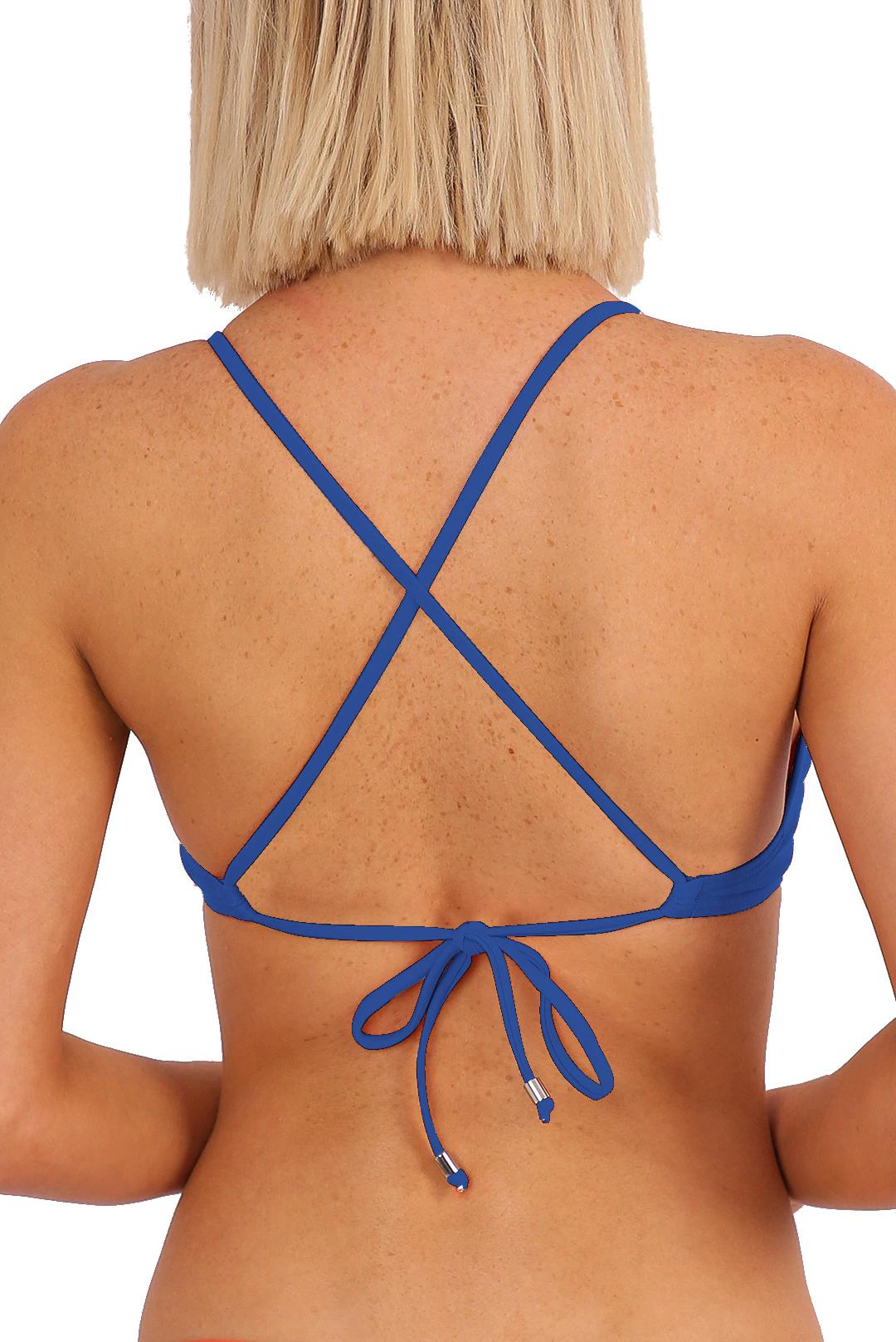 'Lola' Bralette Tie Back - Azure
