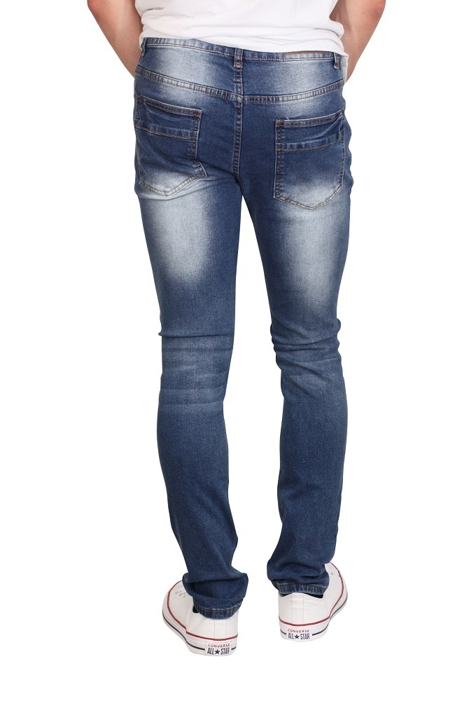 M. SOCIETY Stretch Skinny Jeans with Rip and Repair