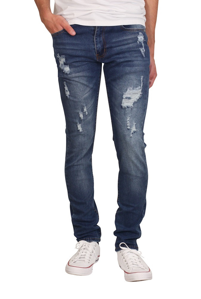 M. SOCIETY Skinny Jeans with Rip and Repair
