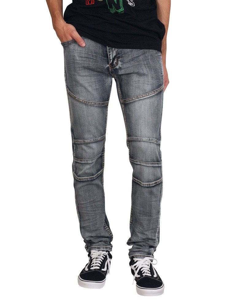 WAIMEA Skinny Fit Ringspun Jeans with Articulated Knees
