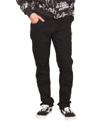 GENUINE DENIM Slim Fit Moto Jeans with Articulated Knees