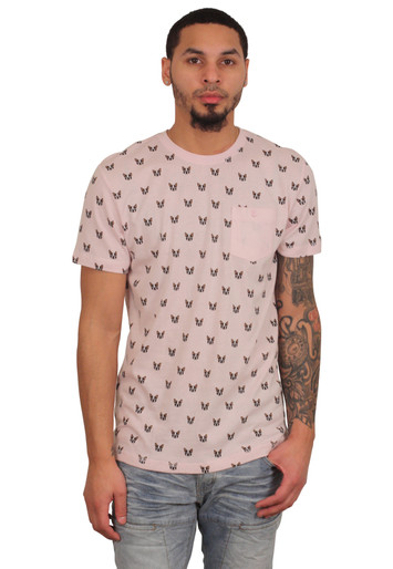 CREATIVE DESTRUCTION Pug Tee Pink
